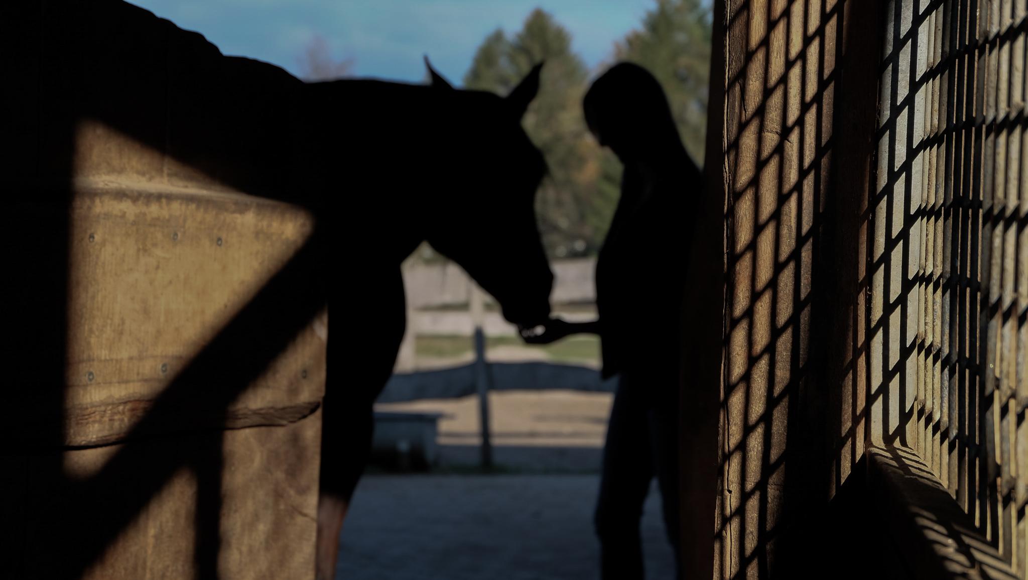 Coach Brita Nerz mit ihrem Pferd Mo