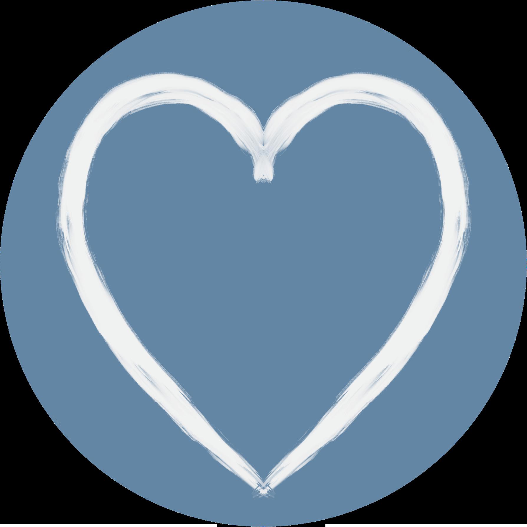 Herz-Symbol auf weißen blauem HintergrundCoaching